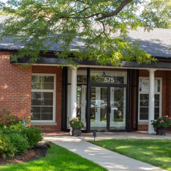 Exterior view of the entrance to Dr. John Skowron Jr.'s Office